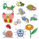 Постер, плакат: Insects doodle set