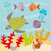 Underwater life — Stock Vector
