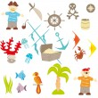 Piracy set - Stock Vector