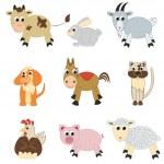 Set of farm animals — Stock Vector #9448418