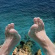 Stock Photo: Feet In Pool