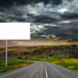 Highway and empty billboard — Stock Photo #9245688
