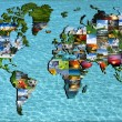 Stock Photo: Map of world through eyes of photographer