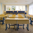 Empty class at school — 图库照片