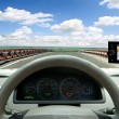 Satellite navigation system — Stock Photo