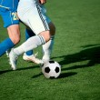 Part of legs-soccer or football theme — Stock Photo
