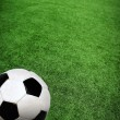 Soccer ball on green grass — Stock Photo #9246494