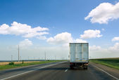 The truck on road. — Stock Photo