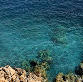 View of the ocean from a cliff — Stock Photo