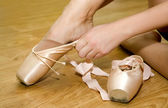 Pointework toe dance — Stock Photo