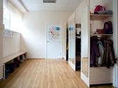 The school cloakroom — Stock Photo