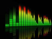 Film müziği ses diagramme — Stok fotoğraf