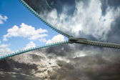 Zipper for the sky — Stock Photo