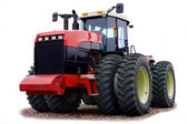 Wheeled tractor on a white background — Stock Photo