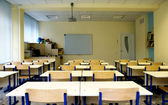 Empty class at school — Stockfoto
