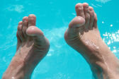 Feet In the Pool — Stock Photo
