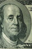 Roosevelt's portrait on 100 dollar denomination — Stock Photo