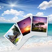 Prachtig strand in de zomer — Stockfoto