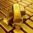 Stacked gold bars — Foto de Stock
