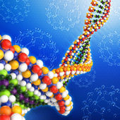 Dna-3d-illustration — Stockfoto