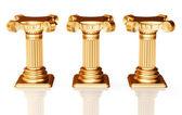 Three bronze pedestals — Stock Photo