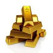 Gold bars 3d concept — Stock fotografie