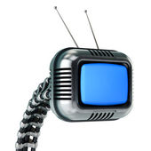 Sci-fi tv in retro style — Stock Photo