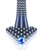 Abstract spheres arrow. — Stock Photo