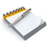 Notepad and pen — Stock Photo