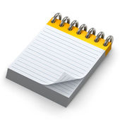 Spiral notepad — Stock Photo
