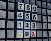 Numbers pad (3d render) — Stockfoto