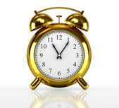 Golden alarm clock — Stock Photo