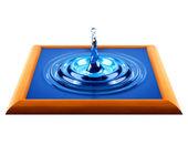 水溅入木结构 — 图库照片