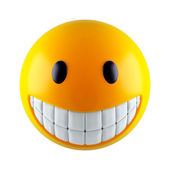 Yellow smiley sphere — Stock Photo