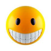 Yellow smiley sphere — Stock Photo
