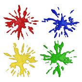 Color paint splashes — Stock Photo