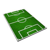 3d model of a soccer pitch — Stok fotoğraf