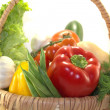 Stock Photo: Fresh vegetables in the basket