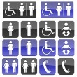 Toilet Bathroom  Handicap Public Sign — Stock Photo