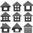 Multiple Home shapes set — Stock Photo