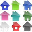 Multiple Home shapes — Stock Photo #10222795