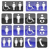 туалет ванной гандикапом общественный знак — Стоковое фото