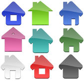 Multiple Home shapes — Stock Photo