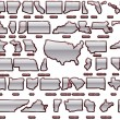 States of America  pack - Stockvectorbeeld