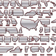 States of Americpack — Vector de stock #10349482