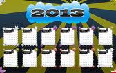2013 vector calendar — Stock Vector