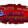 Sorry, we are under construction — Stock Photo #9151877