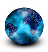 Blue globe on white background — Stock Photo