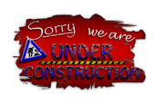 Sorry, we are under construction — Stock Photo