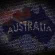 Australia map from text - Stock Photo